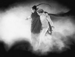 Filmszene mit Mephisto und Faust