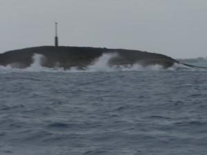 Whale Cay im Seegang
