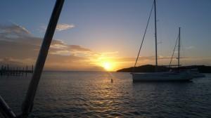 Sonnenuntergang in Settlement Harbour