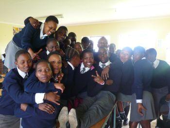 Schulklasse in der afrikanischen Schule