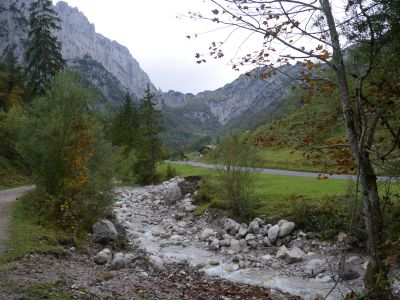 Austieg im Kaiserbachtal