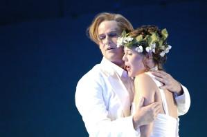 Andreas Wagner (Orfeus) und Julia Amos (Eurydike)