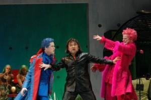 Andreas Wagner (Almaviva), Werner Volker Meyer (Figaro) und Hans Christoph Begemann (Don Bartolo)