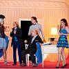 Vadim Kravets als Don Basilio, Juan Sancho als Graf Almaviva, Jiří Sulženko als Bartolo, David Pichlmaier als Figaro, Amira Elmadfa als Rosina