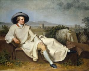 """Tischbein: """"Goethe in der römischen Campagna"""". 1787"""