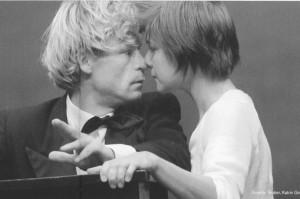 Gunnar Teuber (Franz Moor) und Katrin Grumeth (Amalia)