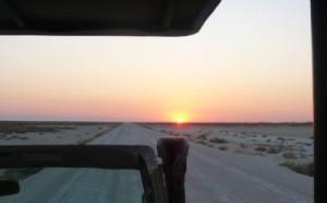 Sonnenaufgang im Etosha-Naturpark