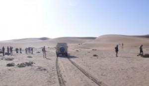 Start zur Wüsten- und Dünentour