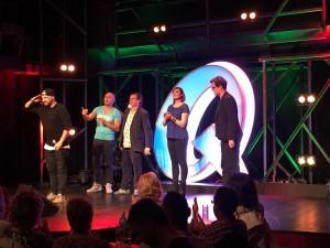 v.l.n.r.: Costa Meronianakis, Murat Topal, Michael Steinke, Lena Liebkind, C. Heiland