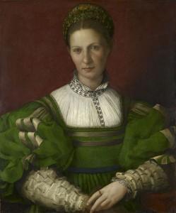 Agnolo Bronzino (1503–1572) Bildnis einer Dame in Grün, um 1530–32