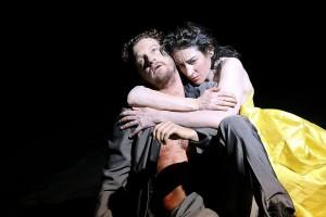 Felix Rech (Achill) und Constanze Becker (Penthesilea)