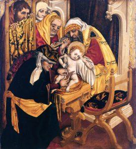 Meister Tucheraltar: Beschneidung Christi