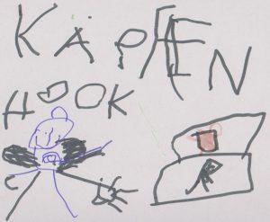 Oskars Verarbeitung der Aufführung (unten rechts das Piratenschiff)