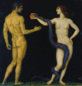 """Franz von Stuck"""": Adam und Eva"""", 1920"""