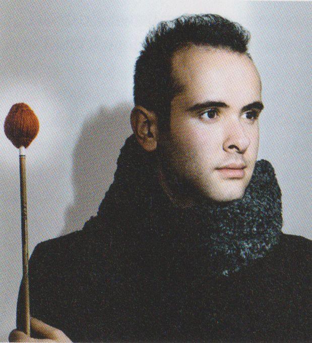 Perkussionist Simone Rubino
