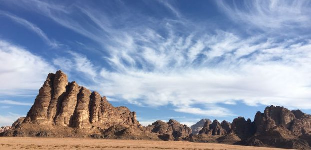 Erster Eindruck vom Wadi Rum