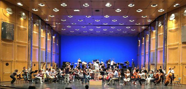 Das Sinfonieorchester des Staatstheaters Darmstadt bei der Generalprobe