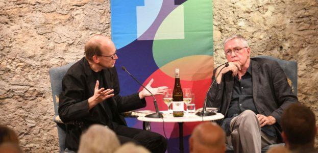 Andreas Platthaus (l.) und Gert Loschütz.  © RLF / Ansgar Klostermann