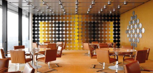 Die Wand aus dem Speisesaal der Bundesbank